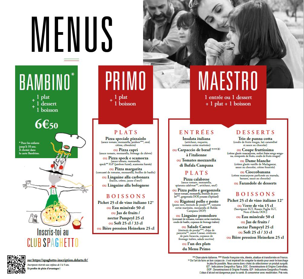 pizzeria del arte carte Del Arte | Menus