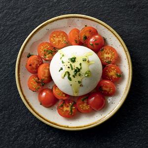 Burrata et tomates cerise